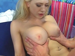 Awesome horny blond girl getting face fucked and loving it