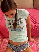 Gorgeous brunette teen Alexis Capri railed doggy style