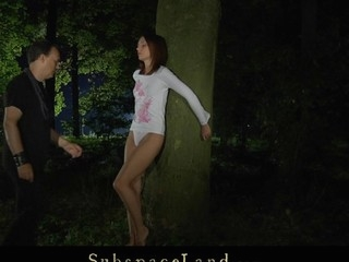 This serf hotty is bound and immobilized by a tree in the woods for a kinky servitude play. The harsh slapping makes her struggle but the ache is so exhausting that that babe surrender beneath master's domination