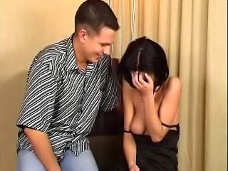 Hot virgin brunette teen girl getting screwed by dirty guy