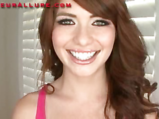 Miley is an 18 year old red haired beauty that is super cute. This Babe has fair skin, merry little titties and a consummate little butt. Ray introduces her to his knob and this babe does a fantastic engulf job on him in advance of this guy bangs this chab