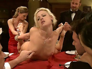Hawt girl taken out in public bound displayed and fucked