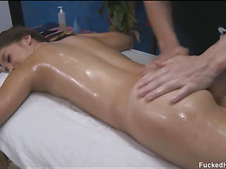 These 3 girls screwed hard by their massage therapist after getting a soothing rubdown