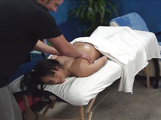 If u want to check up how chick is getting nailed on a massage table by sexy chap then examine this action! Honey stands in doggie after getting great intimate massage from pal and receives nailed from behind.