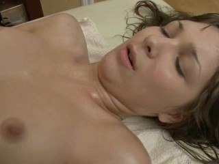 Elegant lass gives wild oral-service after sensual massage
