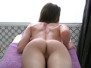 Juvenile masseur is working hard to pleasure  horny beauty
