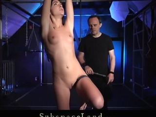 Her fresh thrall body is subjected to harsh spanking her large teat squeezed till ache and her outie young slit hard doggy style fucked after intense magic wand orgasmic massage. Hard training...