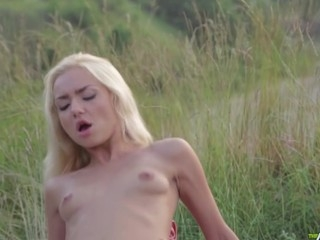 Admire this spectacular artistic porn movie with zealous paramours enjoying each other under the clear blue sky