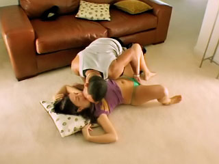 Attractive legal age teenager Brandi getting screwed by dirty lucky man
