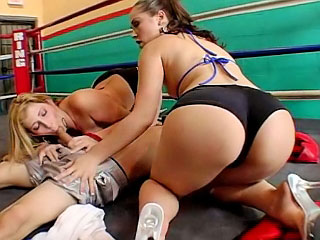 Two hot hot babes with phat asses getting fucked by boxer