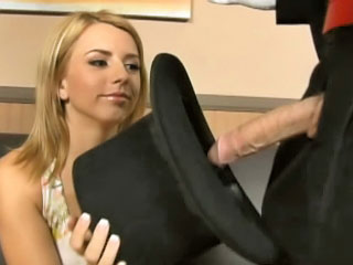 Lewd golden-haired teenie Lexi gets railed hard by one massive cock