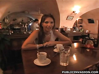 Charming beauty gets drilled doggystyle after giving a head