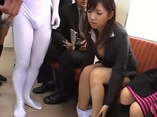 Lovely youthful oriental gets on her knees to suck a thick rod