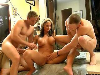 Busty and hot blonde pornstar Pheonix Marie fucking