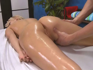 Sweet dilettante blonde with perky tits showing shaved pussy