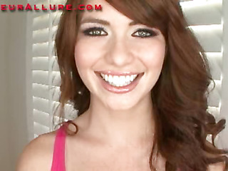 Miley is an eighteen year old red haired beauty that is super cute. This Babe has fair skin, perky little titties and a consummate little butt. Ray introduces her to his knob and that babe does a fantastic engulf job on him in advance of this chab bangs h