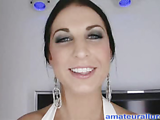 Racquel is a gorgeous twenty year old brunette hair, with all natural whoppers and a diminutive shaved fur pie.  This Chick is a total rod sucking freak, that can't appear to be to get sufficiently cum in her mouth. When u watch what this babe does to my 10-Pounder