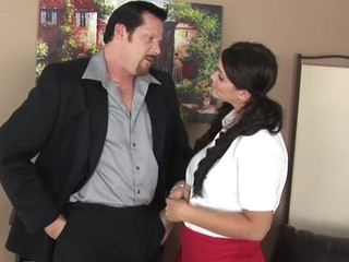 Bad surprise for a schoolgirl serving a large aged shaft