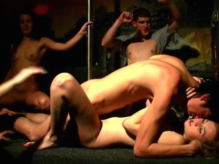 Horny doxies and filthy dudes start unforgettable fuckfest with fun