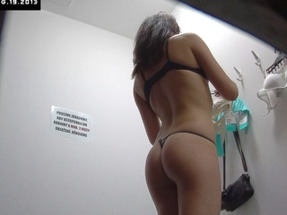 Here is spying the changing rooms! We have two security cameras hidden in cabins of an underclothes shop. Beautiful Czech angels fitting on bras, panties and sexy underware out of even the slightest idea they are being watched. Now u can lastly watch what cuties do in the changing room!
