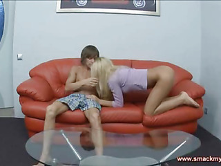 Normally Olya is a cute blonde legal age teenager but this day sheЄ??s all impish want and longing. Her arousing clip stars with her hips thrusting and her fingers dancing over her body as that playgirl awaits the arrival of the stud that will plunge his rod balls deep into her steamy wet crack and make her orgasm over and over another time. When the two of 'em lastly hook up his tongue meets her clitoris and wetness flows. The same happens when that playgirl blows him with her velvety oral canal. The sweetie with the taut body wants 10-Pounder greater quantity than everything and that guy sure knows how to deliver with a world class bawdy cleft pumping that brings out her moaning internal slut and makes him thankful that heЄ??s dating such a impure angel with such endless want for all the fun that comes from behind fucked hard and fast. Olya sucks a bunch as the scene comes to a close.
