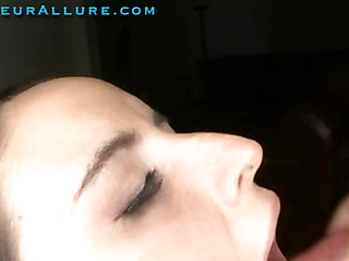 Austyn is 19 years old and is an east coast hottie. This petite beauty came out west to have some fun. Ray slips his huge schlong into her sexy little mouth, then this chap bonks her constricted little wet crack. Austyn swallows cum like a true cum