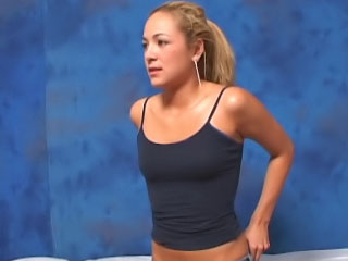 Awesome blond girl loves to suck pecker and acquire banged