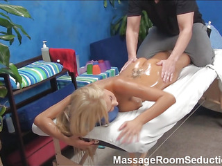 This golden-haired whore got one of the superlatively good booties u have ever witnessed! And the pal that used to massage stripped honeys becomes aroused likewise from the view of it. That Guy resolves to fuck the angel and that chick is not against.