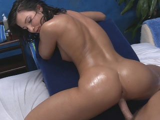 Super hot brunette babe sucks dick then acquires fucked hard
