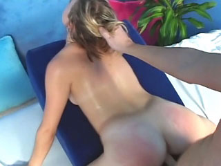 Sexy blonde babe shows her wet slit and wants to fuck