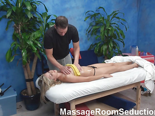 Golden-Haired hottie looks so precious in her petite blue outfit but this babe is even more excellent after staying stripped. Pretty boyfrend gives precious intimate massage to her and then stuffs soaked cookie of girlie by his monster dong.