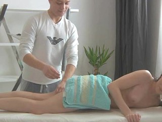 Sensual oil massage always makes angel give wet oral sex
