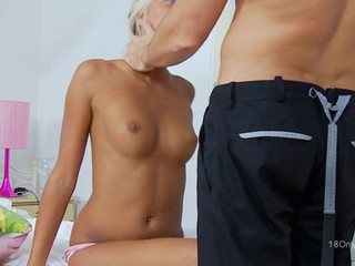 Sweet darling receives a delightful anal drilling from hunk