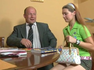Naughty gals are having lusty drilling with teacher