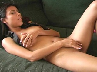 Cute longhaired hotty is exposing each inch of her admirable body