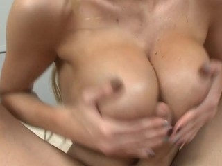 Rliey Evans large ideal breast bonks a chubby weenie in POV !