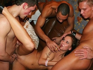 What can be hotter than a college fuck party in a chic sauna? Check out the steamy action in massage room!