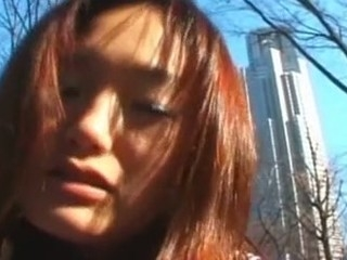 This cute Japanese Coed looks shy at 1st but it comes to show her sexy body, that babe is not afraid. This Babe starts to show her bare body in the street and then gets deeply fucked on the roof of his school. what a shlong whore!