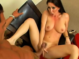 Gorgeous milf with nice bazookas getting fucked hard by big dick