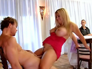 White babe with very big boobs getting drilled hard and deep