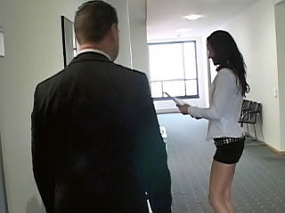Naughty secretary with pleasant ass getting fucked at office