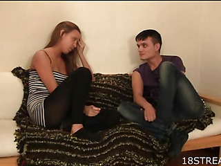 Hotty can't resist temptation of being banged by pretty dude