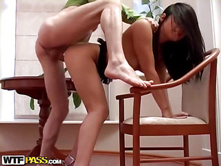If u're a sucker for hawt and slutty Oriental chicks, this amateur porn clip is just what u need! This brunette hair hawt chick strips undressed in front of her boyfriend, and this guy knows what's on her mind. The sinful hottie is a real pro at unfathomable throating, and that babe's always glad to show off her skills to her fellow. Then this chick bows over, letting him drill her oozing twat as hard as this chab feels like. Want To see the rest of this unforgettable unfathomable face gap porno? Well, go on and see it!