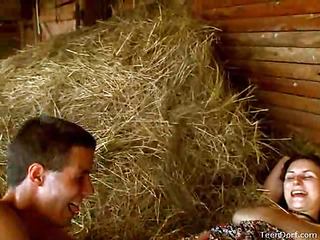 This Day, the video camera found those very horny teenies out by the barn. They`re all alone by the farm this day and it`s just a matter of time in advance of things start to get indeed sexy. Any chance this chab gets, this stud wants to have her. This Day, this stud even throws in a twist. That Guy takes a leather strap that that stud finds and uses it wrap and tie her hands jointly. It makes her feel so kinky and wicked. Her vagina is always soaking wet, but the leather bounds turns her on even more than usual. His rod slips in and out of her with ease.