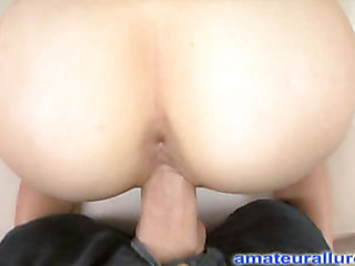 Kara is a very sexy golden-haired with a smoking hawt body and this playgirl loves to swallow cum...after that playgirl plays with it a little first. Ray gets her to show off her merry mounds and constricted little a-hole in advance of that guy slips his large pe