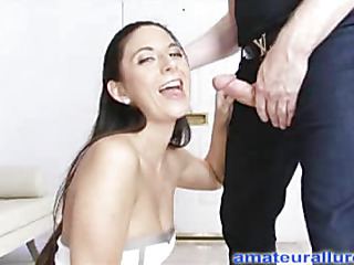 Jackie is an aggressive hard body playgirl that can't live without to engulf ramrod and swallow cum. That Hottie wastes no time, and gets on her knees and starts engulfing. Thomas bonks her taut little slit hard from behind as this babe entreats for it ha