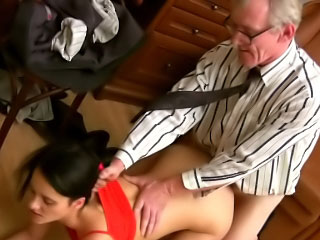 Thin perky tit brunette hottie sucks and fucks a hard dong