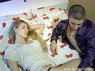See how this large built stranger begins massaging her valuable body in anticipation of wonderful banging.