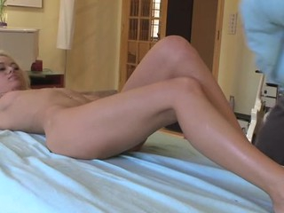Breasty honey receives her hot cookie drilled zealously by stud