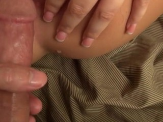 Very horny chick gets her backdoor hole fingered and screwed
